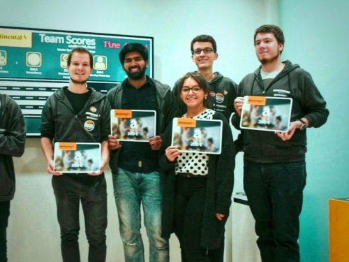 Gewinnerteam des #Fiction2Science Cloud Hackathon by Continental AG @ IAA Frankfurt. Foto: Continental AG