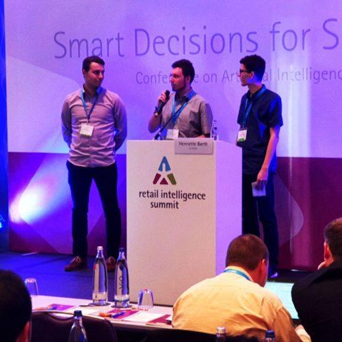 Präsentation der Ergebnisse des Data Mining Cups beim Retail Intelligence Summit in Berlin. Foto: Privat