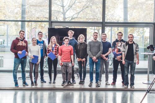 Die drei besten Teams des EnBW Hackathons. Foto: EnBW Energie Baden-Württemberg AG