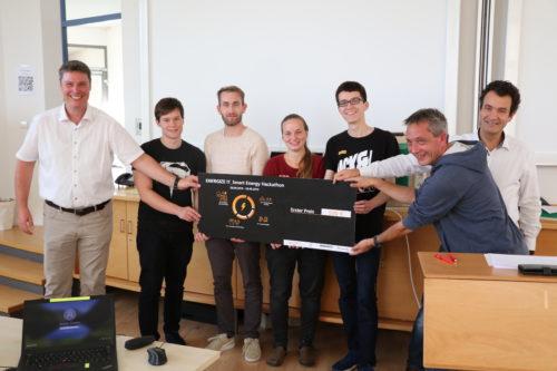 Gewinnerteam des EnergizeIT Hackathon by Fraunhofer IAO. Foto: Fraunhofer IAO, CAS Software AG