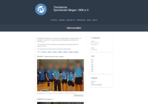 SVI TT - Mannschaften