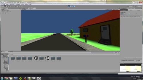 Techdemo Low-Poly 3D-Spiel