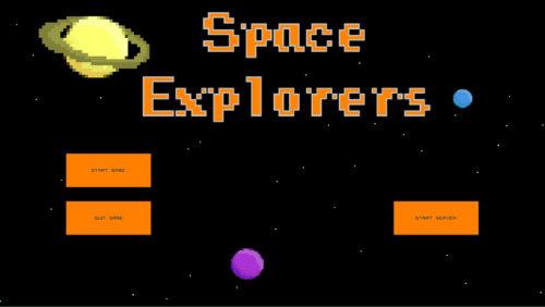 Hauptmenü von Space Explorers